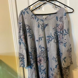 Avenue 30/32 floral print tunic top